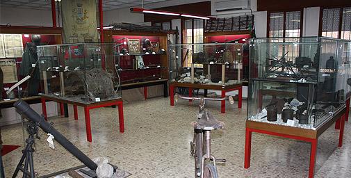 Una sale del Museo 15.18 della Grande Guerra di Maserada sul Piave